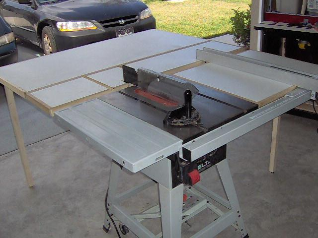 Shop Cabinet Table Saw Extension